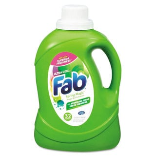 Fab 2X HE Liquid Laundry Detergent Spring Magic 50-ounce Bottle 6/Carton