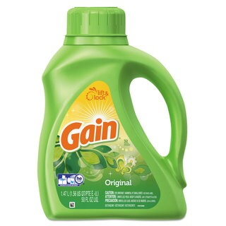 Gain Liquid Laundry Detergent Original 50-ounce Bottle 6/Carton