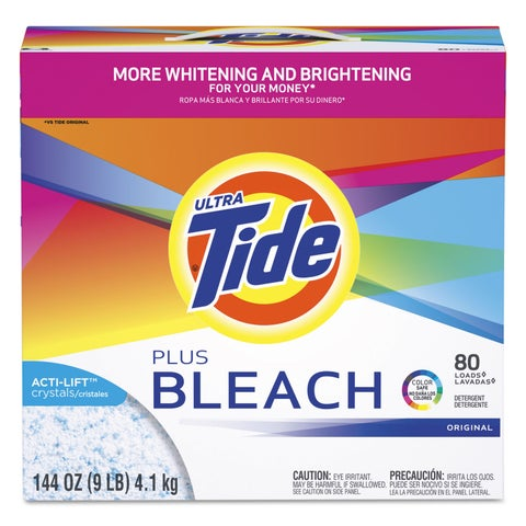 Tide Laundry Detergent with Bleach Tide Original Scent Powder 144-ounce Box