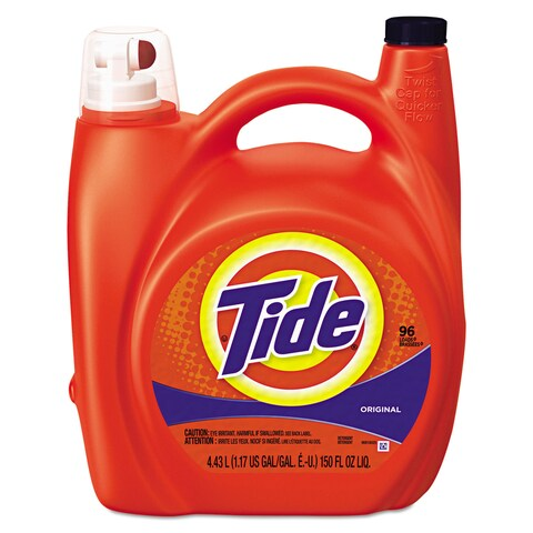 Tide ULettera Liquid Laundry Detergent Original 150-ounce Pump Dispenser 4/Carton