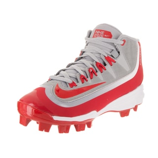 Nike Kids' Huarache 2KFilth Pro Mid MCS Bg Grey Synthetic Leather Baseball Cleats