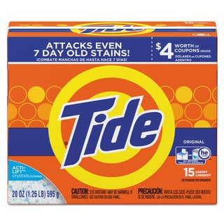Tide Powder Laundry Detergent Original Scent 20-ounce Box