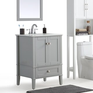 WYNDENHALL Windham Grey Bath Vanity with White Quartz Marble Top