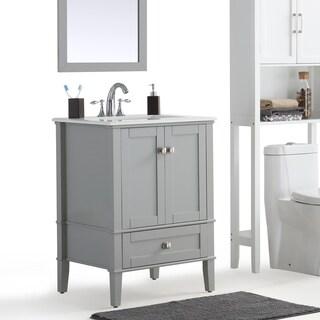 WYNDENHALL Windham Grey Bath Vanity with White Quartz Marble Top