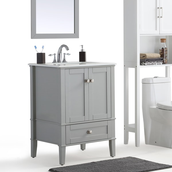 bathroom vanity grey. WYNDENHALL Windham Grey Bath Vanity with White Quartz Marble Top