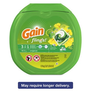 Gain Flings Laundry Detergent Pods Original Scent 0.06 Pac 72/Container