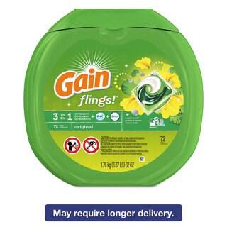 Gain Flings Laundry Detergent Pods Original Scent 0.06 Pac 72/Container