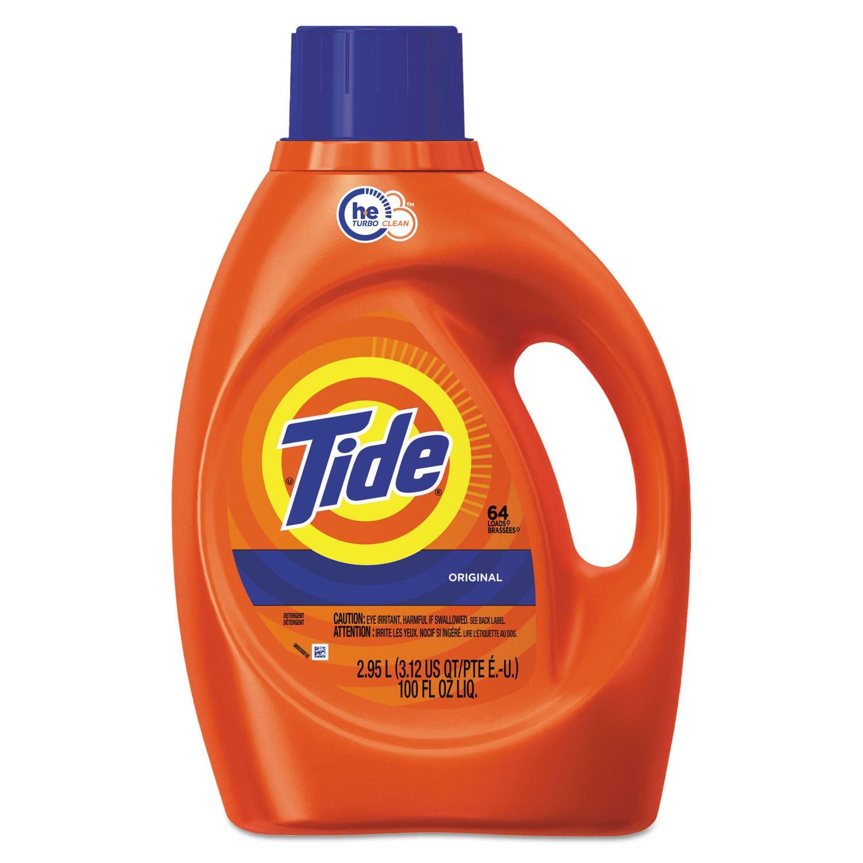 Tide HE Laundry Detergent Original Scent Liquid 100-ounce...