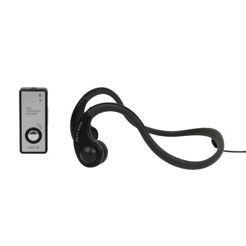 Open Ear Bone Conduction Headphones with Amplifier and Microphone