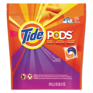 Tide Pods Laundry Detergent Spring Meadow 35/Pack 4 Pack/Carton