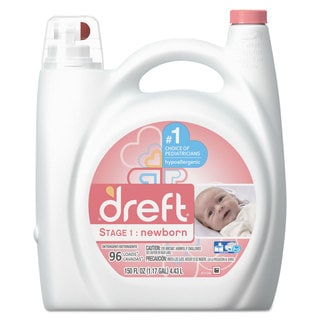 Dreft Ultra Laundry Detergent Liquid Original Scent 150-ounce Bottle 4/Carton
