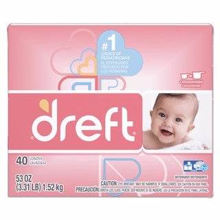 Dreft Ultra Laundry Detergent Powder Original Scent 53-ounce Box