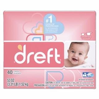 Dreft Ultra Laundry Detergent Powder Original Scent 53-ounce Box