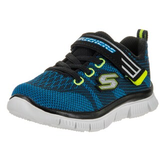 Skechers Toddlers' Flex Advantage Master Mind Blue Synthetic Leather Running Shoes