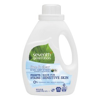 Seventh Generation Natural 2X Concentrate Liquid Laundry Detergent Free&Clear 33 loads 50oz 6/Carton