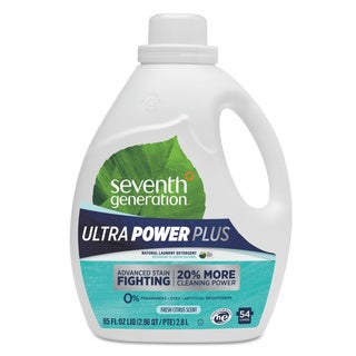 Seventh Generation Natural Liquid Laundry Detergent Ultra Power Plus Fresh 54 Loads 95oz 4/Carton