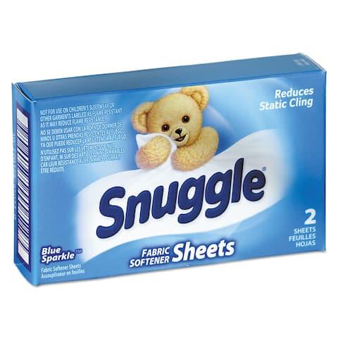 Snuggle Vend-Design Fabric Softener Sheets Blue Sparkle 2 Sheets/Box 100 Boxes/Carton