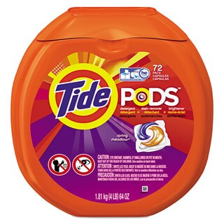 Tide Pods Spring Meadow 72/Pack 4/Carton