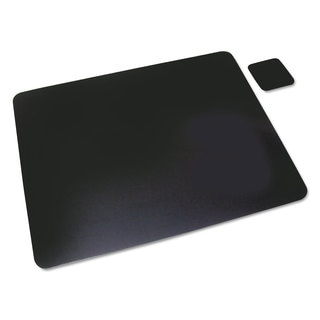 Artistic Leather Desk Pad with Coaster 20 x 36 Black