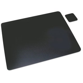 Artistic Leather Desk Pad with Coaster 19 x 24 Black