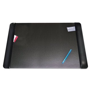 Artistic Executive Desk Pad with Leather-Like Side Panels 36 x 20 Black