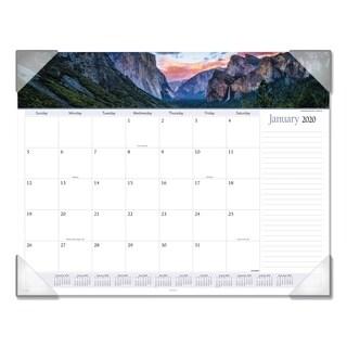 AT-A-GLANCE Landscape Panoramic Desk Pad, 22 x 17, Landscapes, 2018