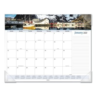 AT-A-GLANCE Seascape Panoramic Desk Pad, 22 x 17, 2019
