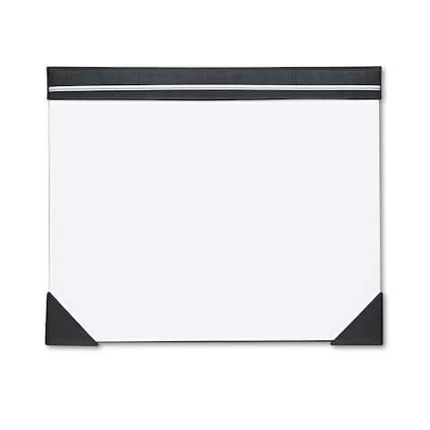 House of Doolittle Executive Doodle Desk Pad 25-Sheet White Pad Refillable 22 x 17 Black/Silver