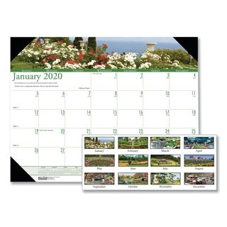 House of Doolittle Recycled Gardens of the World Photo Monthly Desk Pad Calendar, 22 x 17, 2019