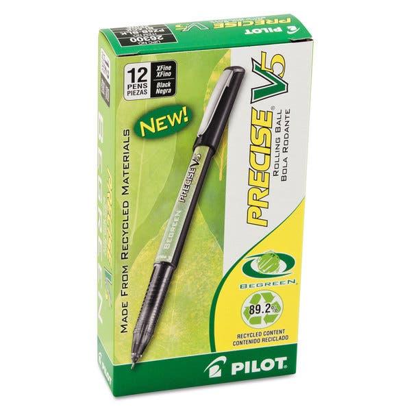 Pilot Precise V7 Roller Ball Stick Pen Precision Point Black Ink .7mm Dozen