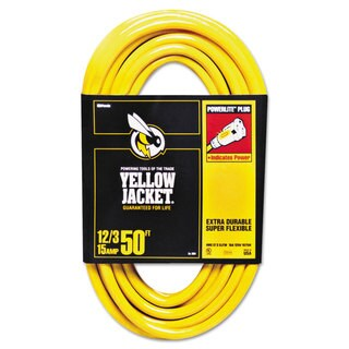 CCI Yellow Jacket Power Cord 12/3 AWG 50ft