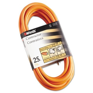 CCI Outdoor Round Vinyl Extension Cord 12/3 AWG 25ft Orange