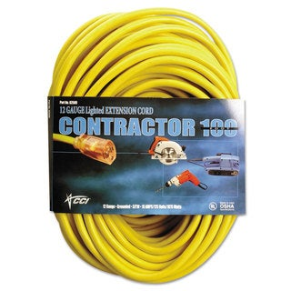 CCI Vinyl Outdoor Extension Cord 100-feet 15 Amp Yellow