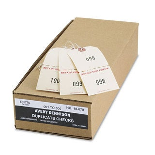 Avery Extra Large Claim Checks 1-500 4 3/4 x 2 3/8 Manila 500/Box
