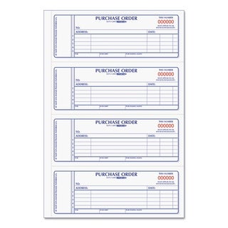 Rediform Purchase Order Book 7 x 2 3/4 Two-Part Carbonless 400 Sets/Book