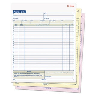 TOPS Purchase Order Book 8-3/8 x 10 3/16 Three-Part Carbonless 50 Sets/Book
