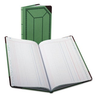 Boorum and Pease Record/Account Book Journal Rule Green/Red 150 Pages 12 1/2 x 7 5/8