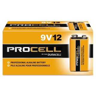 Duracell Procell Alkaline Batteries 9V 12/Box
