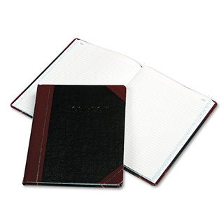 Boorum & Pease Log Book Record Rule Black/Red Cover 150 Pages 10 3/8 x 8 1/8