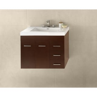 Ronbow Bella 31-inch Wall Mount Bathroom Vanity Set in Dark Cherry