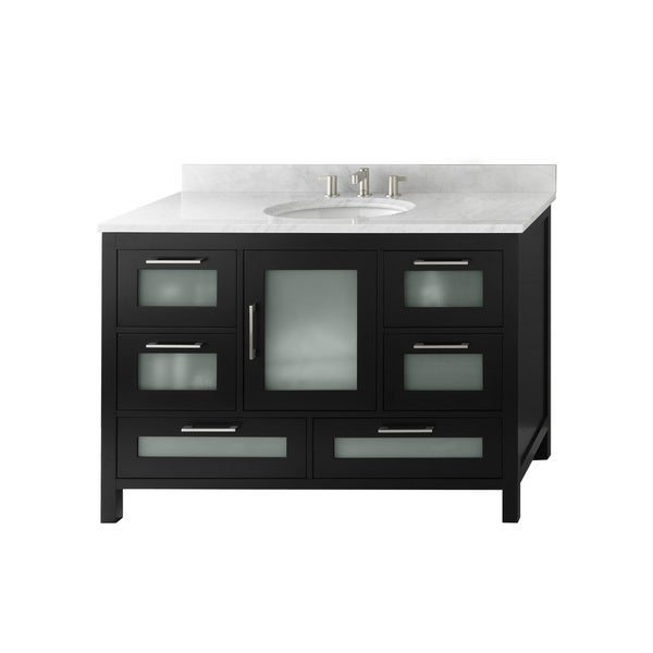 Shop Ronbow Athena 48-inch Bathroom Vanity Set in Black ...