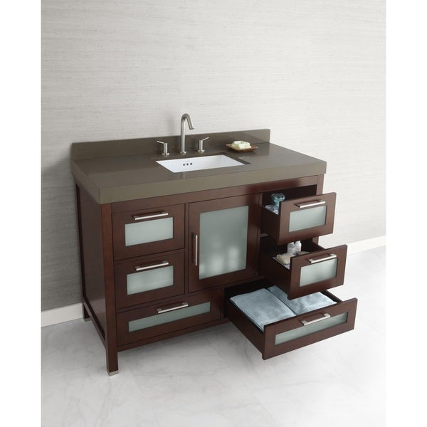 Shop Ronbow Athena 48 Inch Bathroom Vanity Set In Dark