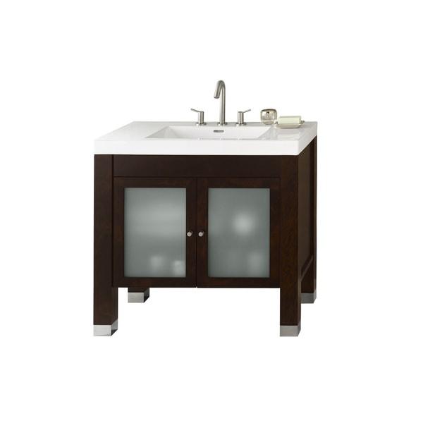 Vintage Bathroom Vanity Set: Ronbow Devon 36-inch Bathroom Vanity Set In Vintage Walnut