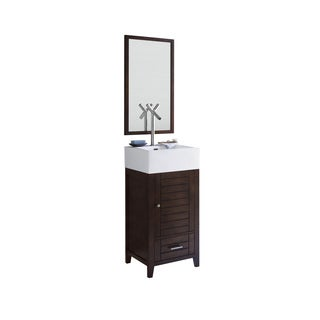 Shop Ronbow Elise Vintage Walnut 18 Inch Bathroom Vanity