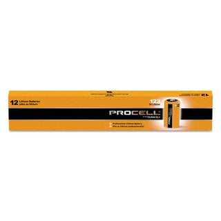 Duracell Procell Lithium Batteries CR123 For Camera 3V 12/Box