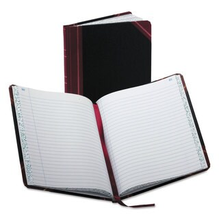 Boorum and Pease Record/Account Book Record Rule Black/Red 150 Pages 9 5/8 x 7 5/8