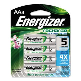 Energizer NiMH Rechargeable Batteries AA 4 Batteries/Pack
