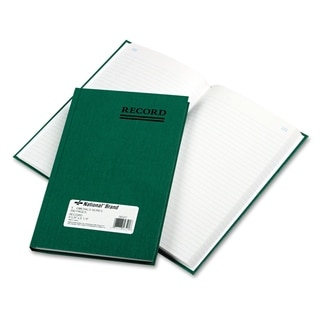 National Emerald Series Account Book Green Cover 200 Pages 9 5/8 x 6 1/4