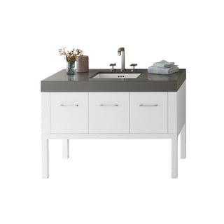 Ronbow Calabria 48 Inch Bathroom Vanity Set In White