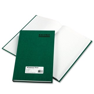 National Emerald Series Account Book Green Cover 300 Pages 12 1/4 x 7 1/4